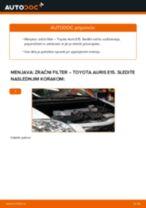 Zracni filter TOYOTA AURIS (NRE15_, ZZE15_, ADE15_, ZRE15_, NDE15_) | PDF vodič za zamenjavo