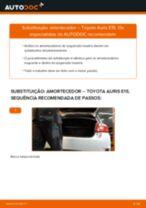 Substituição Amortecedor de suspensão TOYOTA AURIS: pdf gratuito