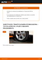 Tutorial de reparo e manutenção TOYOTA Avensis III Carrinha (T27) 2014