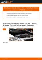 Manual DIY sobre como substituir o Filtro de Óleo no TOYOTA AVENSIS
