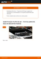 Guia passo-a-passo do reparo do Avensis III Carrinha (T27) 2013