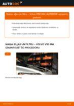 Kā nomainīt: eļļas un filtru Volvo V50 MW - nomaiņas ceļvedis