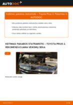 Kaip pakeisti Toyota Prius 2 pakabos statramstis: priekis - keitimo instrukcija