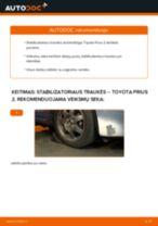Kaip pakeisti Toyota Prius 2 stabilizatoriaus traukės: priekis - keitimo instrukcija