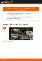 Kaip pakeisti Toyota Prius 2 oro filtro - keitimo instrukcija