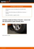 Kaip pakeisti Volvo V50 MW stabilizatoriaus traukės: priekis - keitimo instrukcija