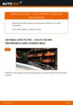 VOLVO V50 Kuro filtras keitimas: nemokamas pdf
