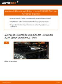 Wie der Wechsel durchführt wird: Ölfilter 3.3 400h AWD Lexus RX XU30 tauschen