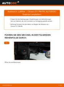 Wie der Wechsel durchführt wird: Luftfilter 1.0 CITROËN C1 (PM_, PN_) tauschen