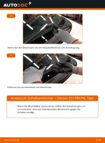 Wie der Wechsel durchführt wird: Scheibenwischer 1.0 CITROËN C1 (PM_, PN_) tauschen