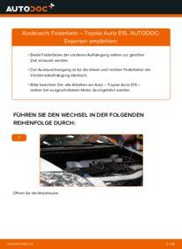 Wie der Wechsel durchführt wird: Stoßdämpfer 1.4 D-4D (NDE150_) Toyota Auris e15 tauschen