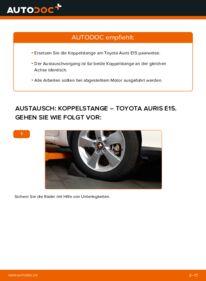 Wie der Wechsel durchführt wird: Koppelstange 1.4 D-4D (NDE150_) Toyota Auris e15 tauschen