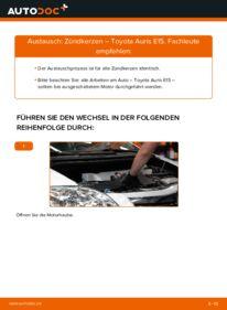 Wie der Wechsel durchführt wird: Zündkerzen 1.4 D-4D (NDE150_) Toyota Auris e15 tauschen