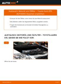 Wie der Wechsel durchführt wird: Ölfilter 1.4 D-4D (NDE150_) Toyota Auris e15 tauschen