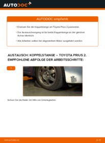 Wie der Wechsel durchführt wird: Koppelstange 1.5 (NHW2_) Toyota Prius 2 tauschen