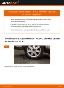 Wie der Wechsel durchführt wird: Stoßdämpfer 2.0 D Volvo V50 Kombi tauschen