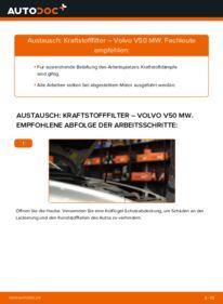 Wie der Wechsel durchführt wird: Kraftstofffilter 2.0 D Volvo V50 Kombi tauschen
