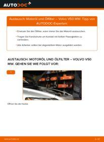 Wie der Wechsel durchführt wird: Ölfilter 2.0 D Volvo V50 Kombi tauschen