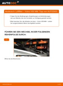 Wie der Wechsel durchführt wird: Luftfilter 2.0 D Volvo V50 Kombi tauschen