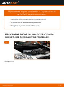How to carry out replacement: Oil Filter on 1.4 D-4D (NDE150_) Toyota Auris E15