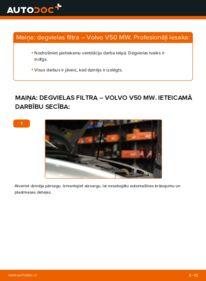 Kā veikt nomaiņu: VOLVO V50 Degvielas filtrs