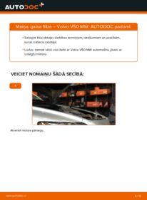 Kā veikt nomaiņu: VOLVO V50 Gaisa filtrs