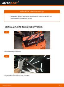 Kaip atlikti keitimą: 3.3 400h AWD Lexus RX XU30 Valytuvo gumelė