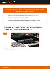 Kaip atlikti keitimą: 1.4 D-4D (NDE150_) Toyota Auris e15 Alyvos filtras