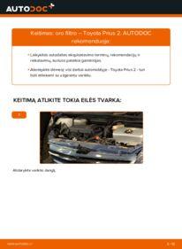 Kaip atlikti keitimą: 1.5 (NHW2_) Toyota Prius 2 Oro filtras