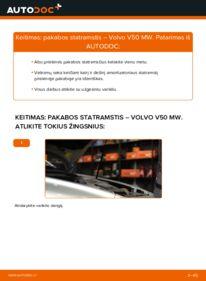 Kaip atlikti keitimą: 2.0 D Volvo v50 mw Amortizatorius
