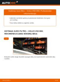 Kaip atlikti keitimą: 2.0 D Volvo v50 mw Kuro filtras
