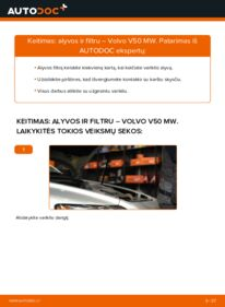 Kaip atlikti keitimą: 2.0 D Volvo v50 mw Alyvos filtras