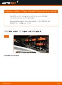 Kaip atlikti keitimą: 2.0 D Volvo v50 mw Oro filtras