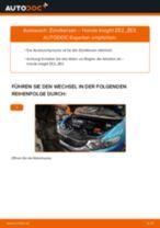 Wie Blinkleuchte HONDA INSIGHT tauschen und einstellen: PDF-Tutorial
