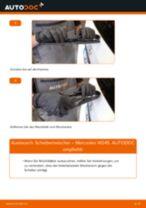 Installation von Wischblattsatz MERCEDES-BENZ B-CLASS (W245) - Schritt für Schritt Handbuch