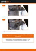 PDF handleiding voor vervanging: Ruitenwisserbladen MERCEDES-BENZ B-Klasse (W245) achter en vóór