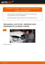Hoe luchtfilter vervangen bij een Mercedes W245 – Leidraad voor bij het vervangen