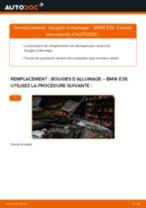 Montage Bougies d'allumage essence BMW 5 (E39) - tutoriel pas à pas