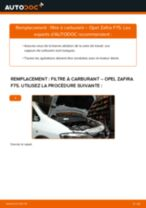 Comment changer : filtre à carburant sur Opel Zafira F75 - Guide de remplacement