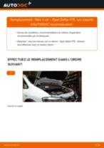 Comment changer : filtre à air sur Opel Zafira F75 - Guide de remplacement