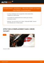 Comment changer : amortisseur arrière sur Mercedes W245 - Guide de remplacement