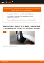 Tutoriel PDF étape par étape sur le changement de Biellette De Barre Stabilisatrice sur MERCEDES-BENZ B-CLASS (W245)