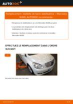 Comment changer Suspension barre de connexion arrière et avant MERCEDES-BENZ B-CLASS (W245) - manuel en ligne