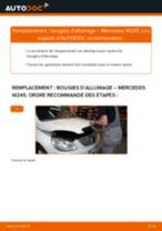 Changer Bougies d'allumage essence MERCEDES-BENZ à domicile - manuel pdf en ligne