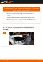 Comment changer et régler Filtre à Huile MERCEDES-BENZ B-CLASS : tutoriel pdf