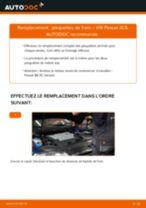 Comment changer : plaquettes de frein arrière sur VW Passat 3C B6 Variant - Guide de remplacement
