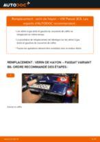 Tutoriel PDF étape par étape sur le changement de Verin De Hayon sur VW PASSAT Variant (3C5)