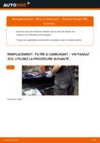 Comment changer : filtre à carburant sur VW Passat 3C B6 Variant - Guide de remplacement