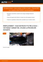 Comment changer Filtre à Huile VW PASSAT Variant (3C5) - manuel en ligne