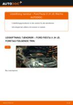 Udskift tændrør - Ford Fiesta V JH JD | Brugeranvisning